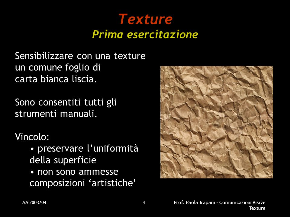 Texture Prima esercitazione