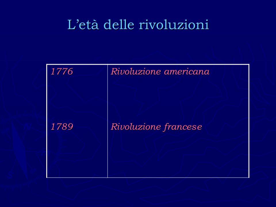 L'età delle rivoluzioni