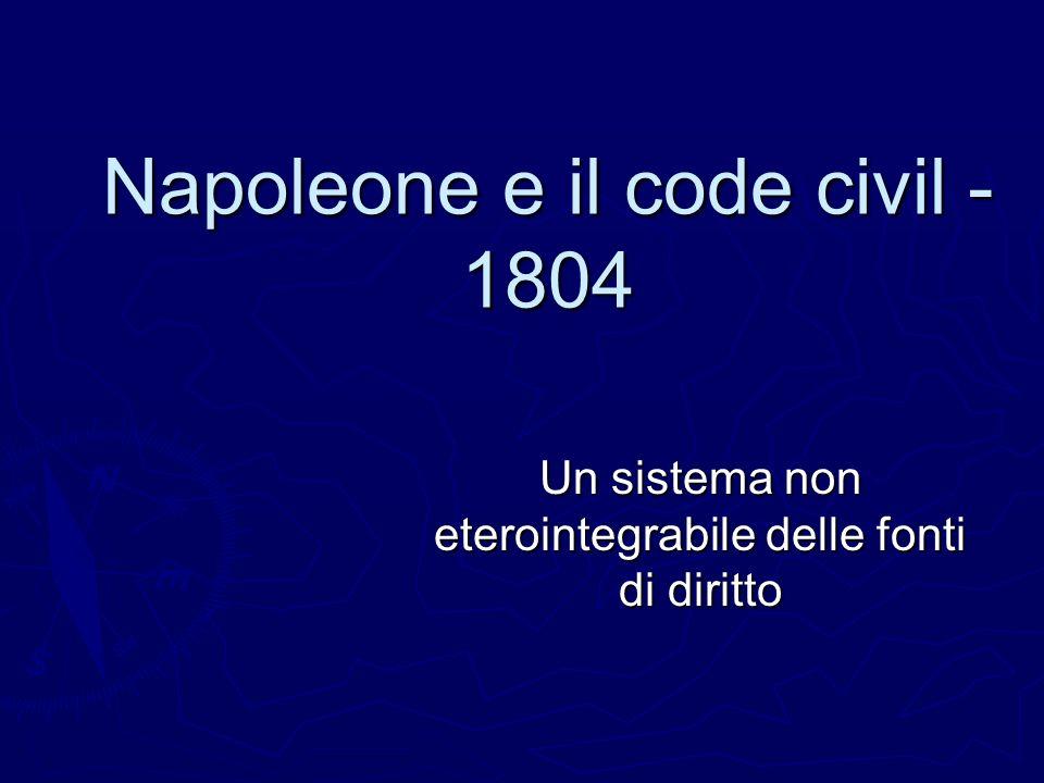 Napoleone e il code civil - 1804