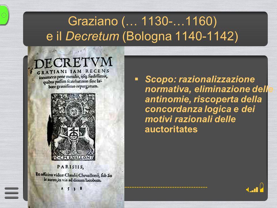Graziano (… 1130-…1160) e il Decretum (Bologna 1140-1142)