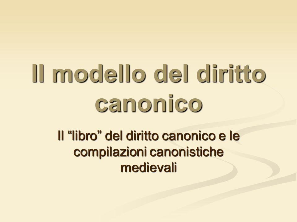 Il modello del diritto canonico