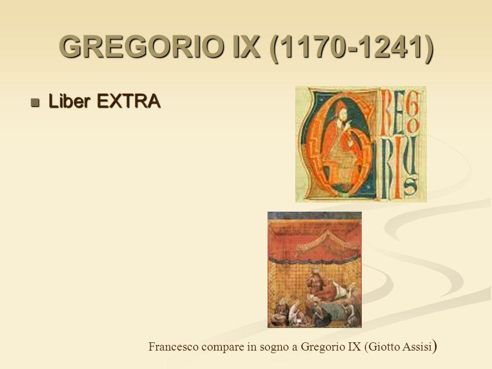 GREGORIO IX (1170-1241) Liber EXTRA