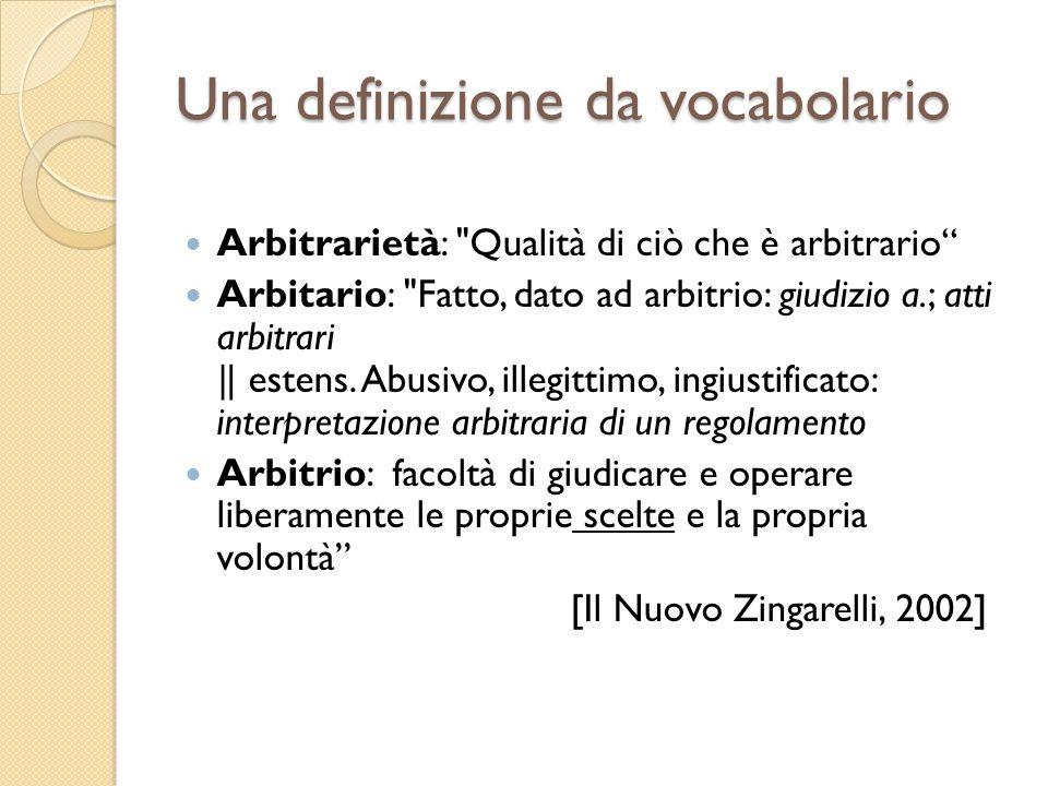 Una definizione da vocabolario