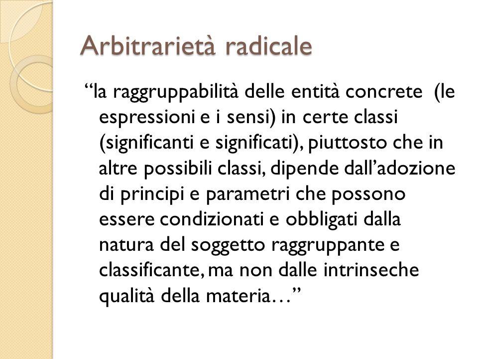 Arbitrarietà radicale