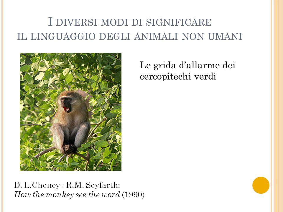 I diversi modi di significare il linguaggio degli animali non umani
