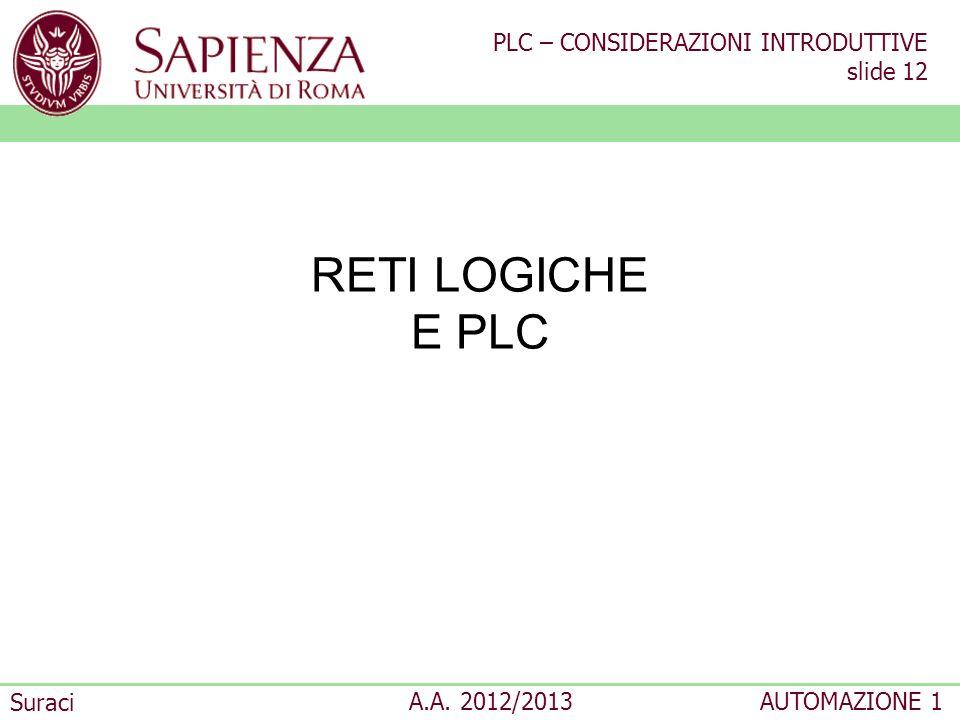 RETI LOGICHE E PLC