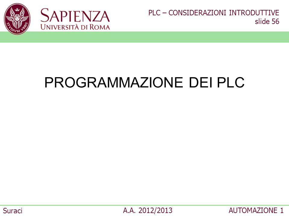 PROGRAMMAZIONE DEI PLC