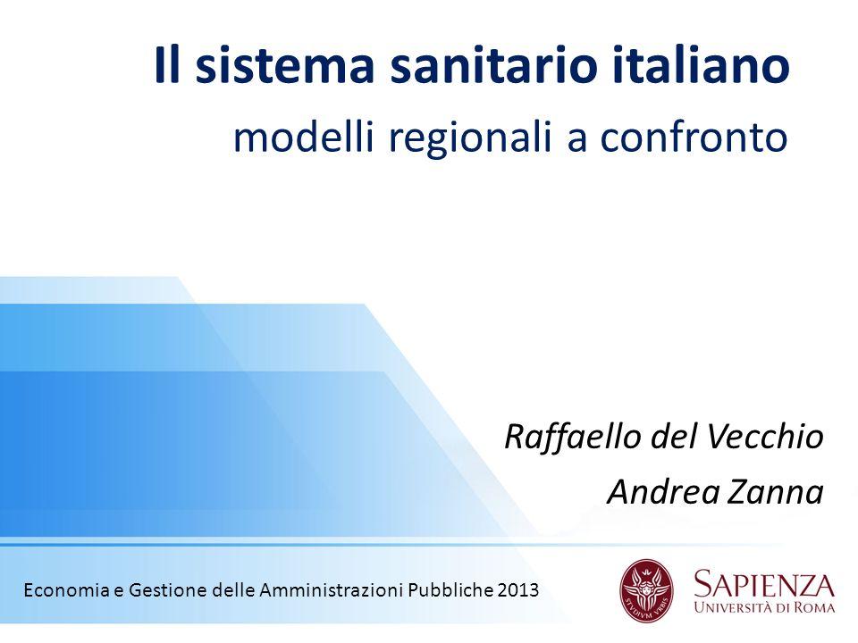 Il sistema sanitario italiano modelli regionali a confronto
