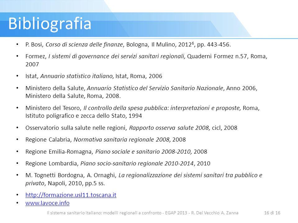 Bibliografia P. Bosi, Corso di scienza delle finanze, Bologna, Il Mulino, 20126, pp. 443-456.