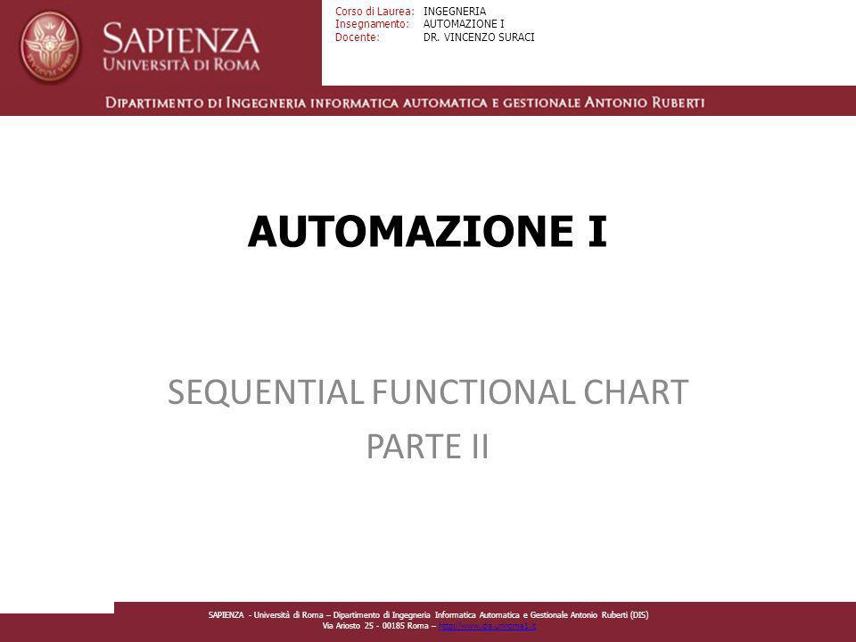 SEQUENTIAL FUNCTIONAL CHART PARTE II