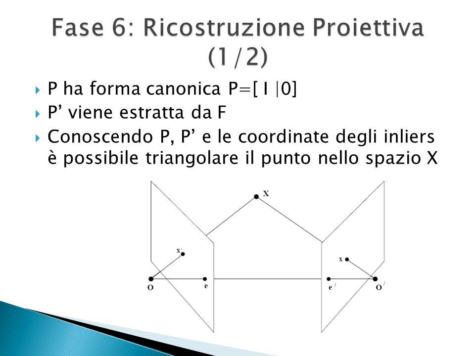 Fase 6: Ricostruzione Proiettiva (1/2)
