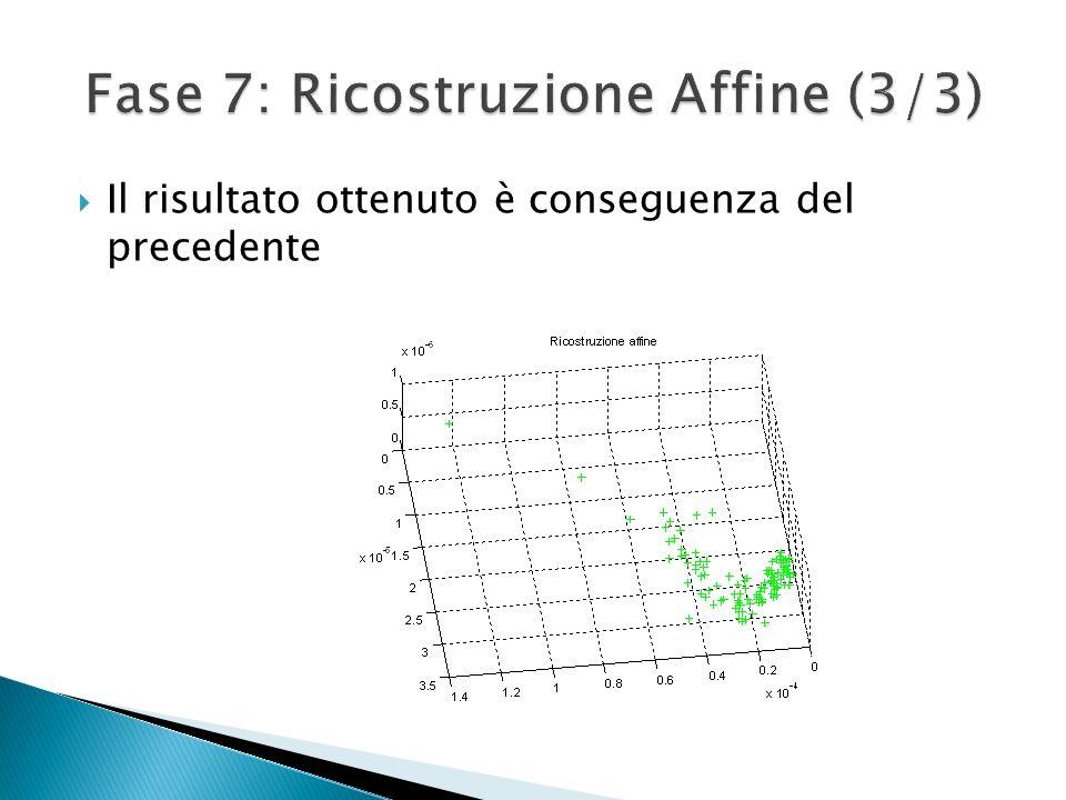 Fase 7: Ricostruzione Affine (3/3)