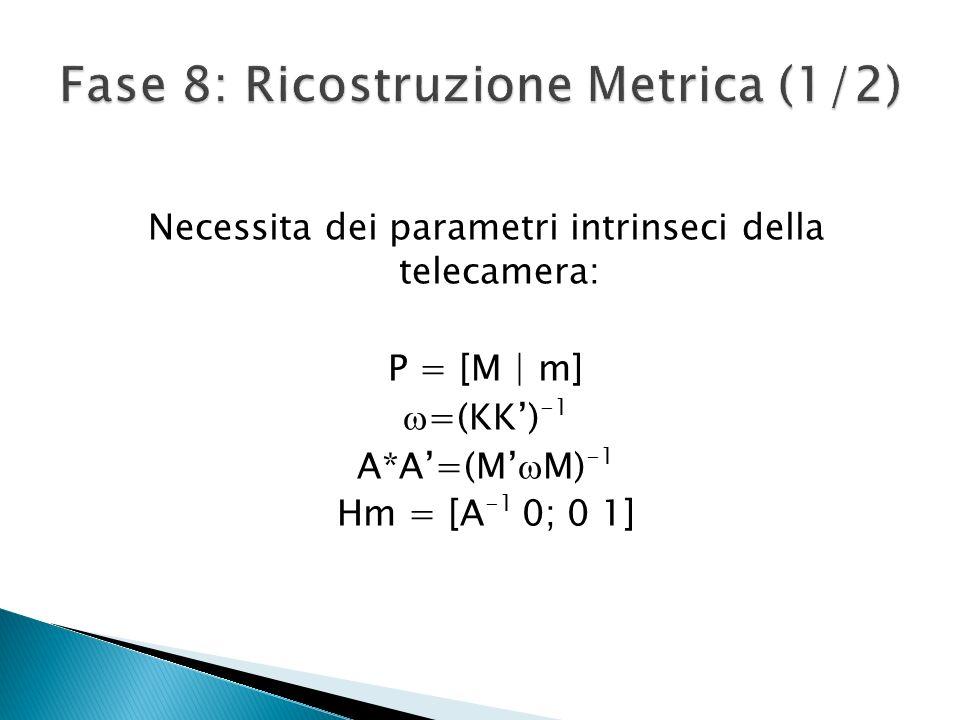 Fase 8: Ricostruzione Metrica (1/2)