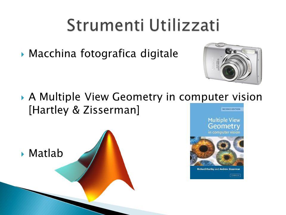 Strumenti Utilizzati Macchina fotografica digitale