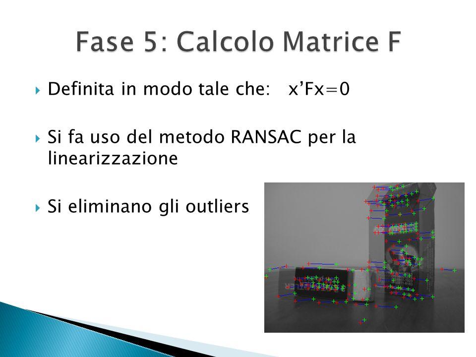 Fase 5: Calcolo Matrice F