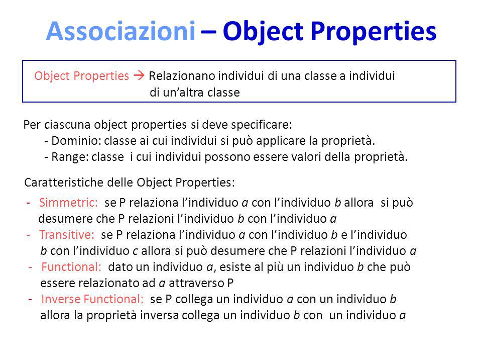 Associazioni – Object Properties