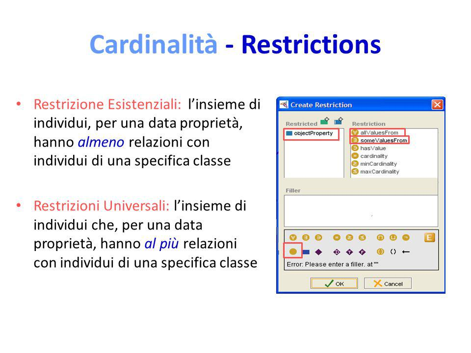 Cardinalità - Restrictions