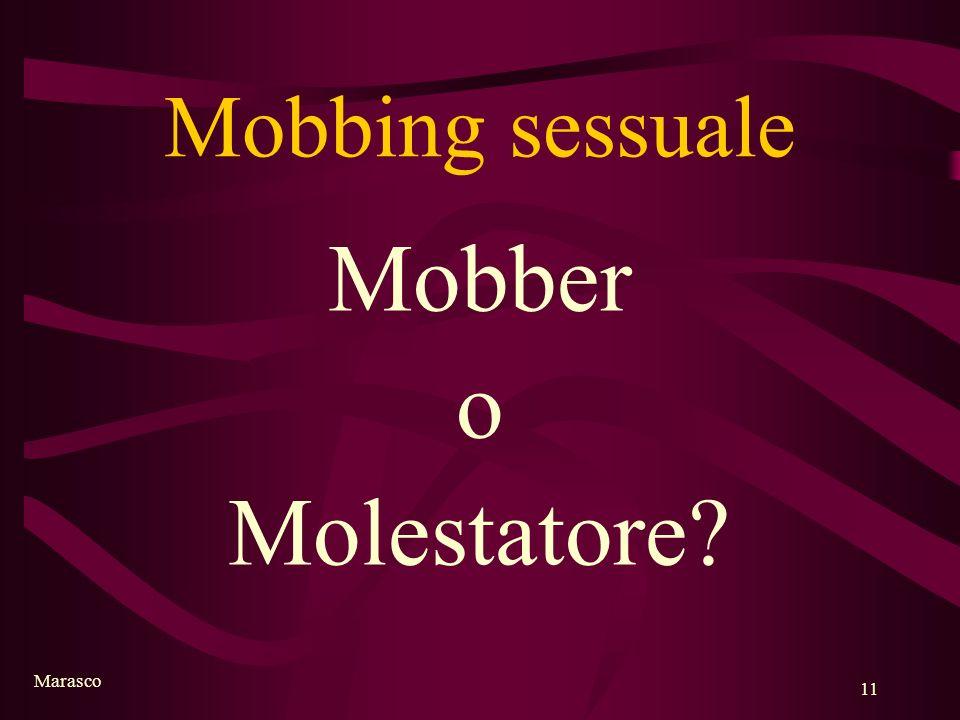 Mobbing sessuale Mobber o Molestatore Marasco