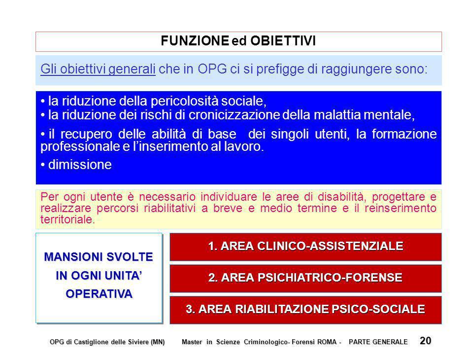Gli obiettivi generali che in OPG ci si prefigge di raggiungere sono: