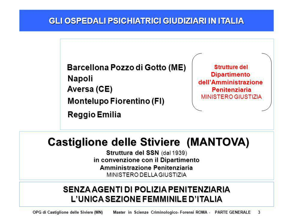 GLI OSPEDALI PSICHIATRICI GIUDIZIARI IN ITALIA