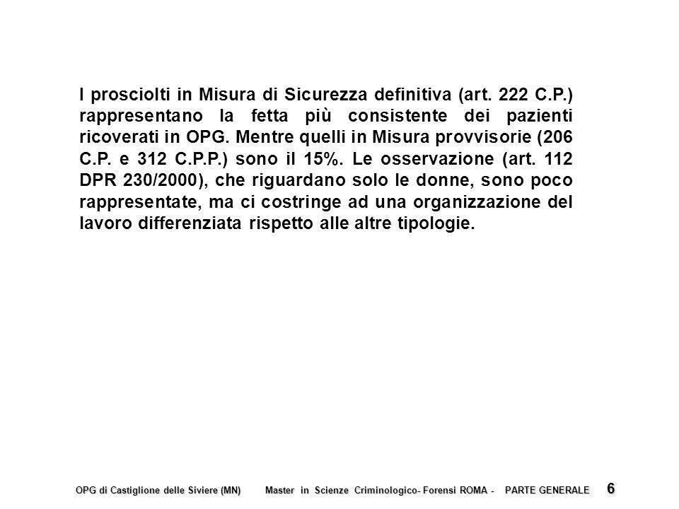 I prosciolti in Misura di Sicurezza definitiva (art. 222 C. P