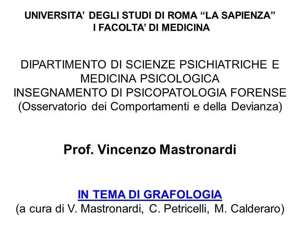 Prof. Vincenzo Mastronardi