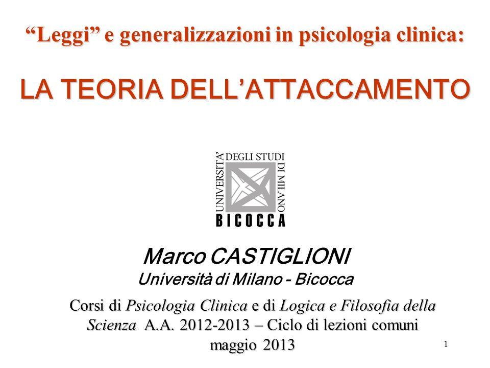 Marco CASTIGLIONI Università di Milano - Bicocca