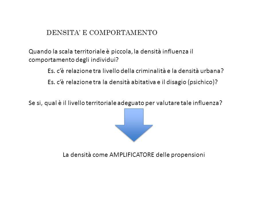 La densità come AMPLIFICATORE delle propensioni