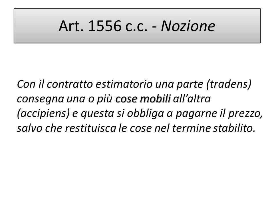 Art. 1556 c.c. - Nozione