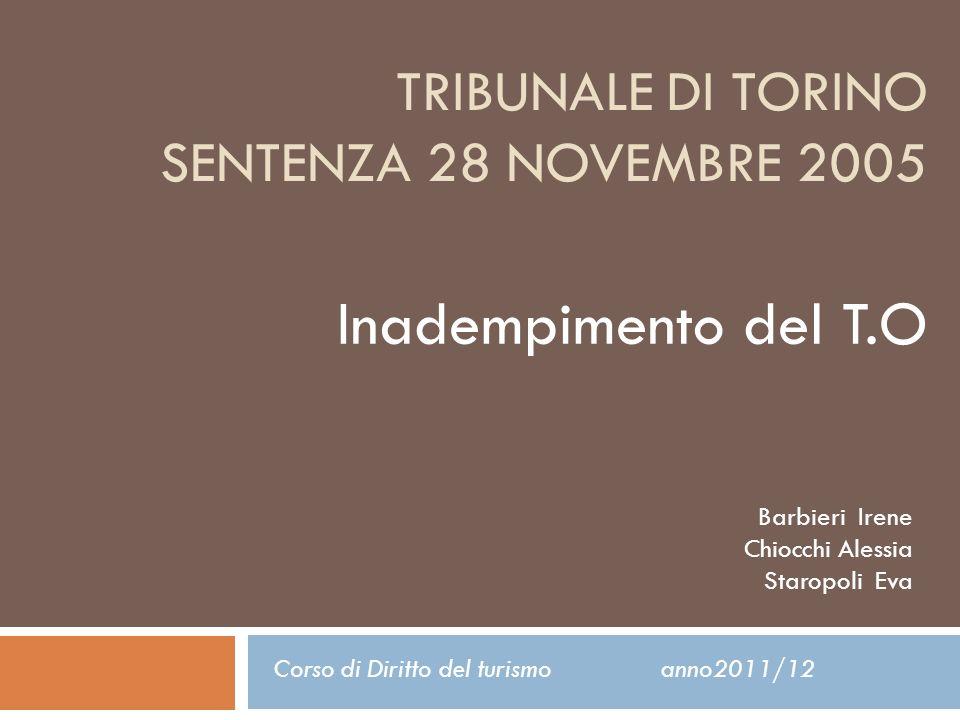 Corso di Diritto del turismo anno2011/12