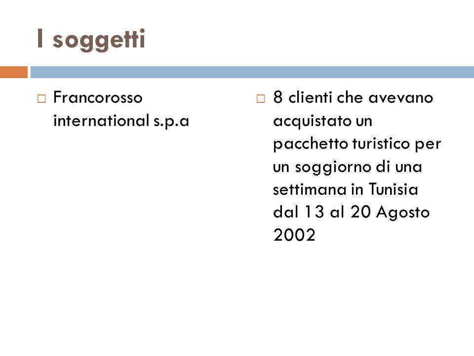 I soggetti Francorosso international s.p.a