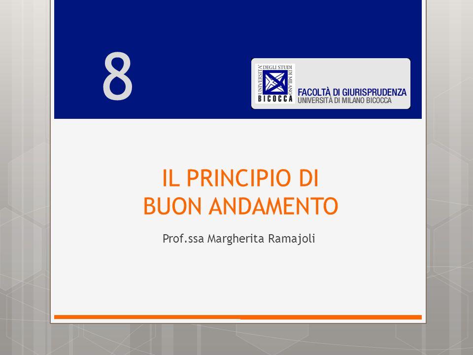 IL PRINCIPIO DI BUON ANDAMENTO