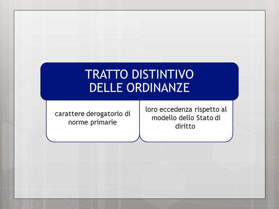 TRATTO DISTINTIVO DELLE ORDINANZE