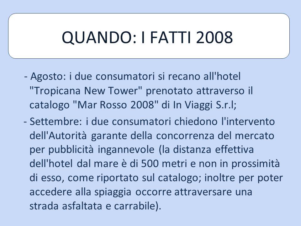 QUANDO: I FATTI 2008