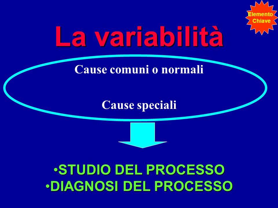 La variabilità STUDIO DEL PROCESSO DIAGNOSI DEL PROCESSO