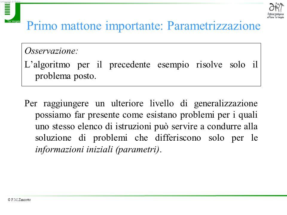 Primo mattone importante: Parametrizzazione