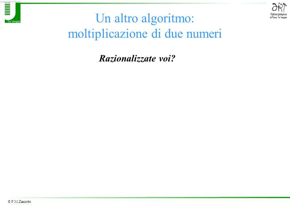 Un altro algoritmo: moltiplicazione di due numeri