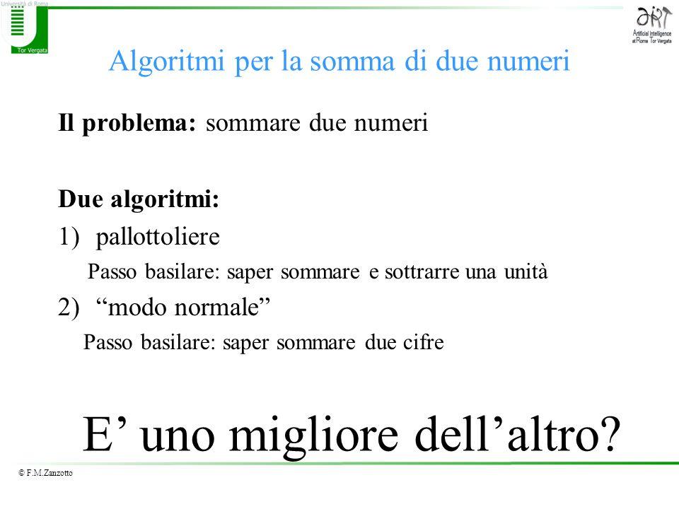 Algoritmi per la somma di due numeri