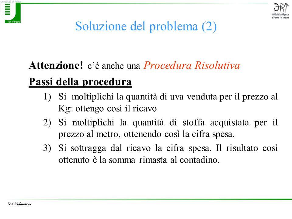 Soluzione del problema (2)