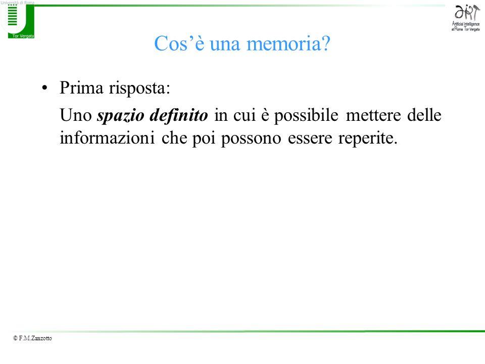 Cos'è una memoria Prima risposta: