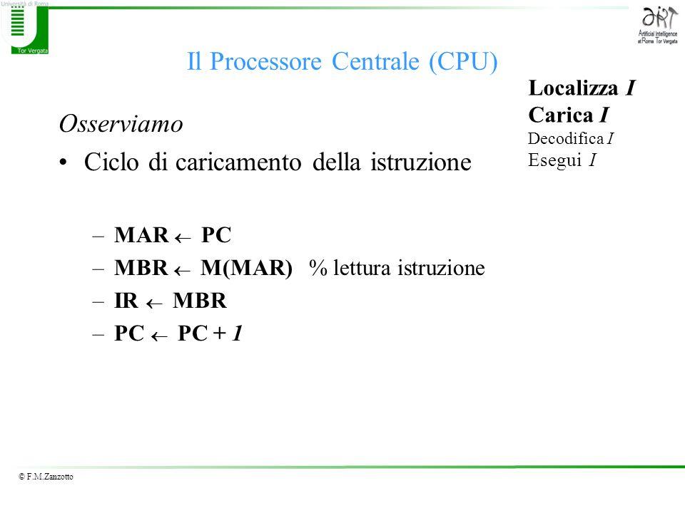 Il Processore Centrale (CPU)