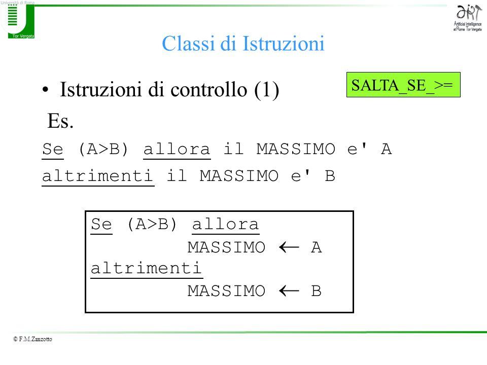 Istruzioni di controllo (1) Es.
