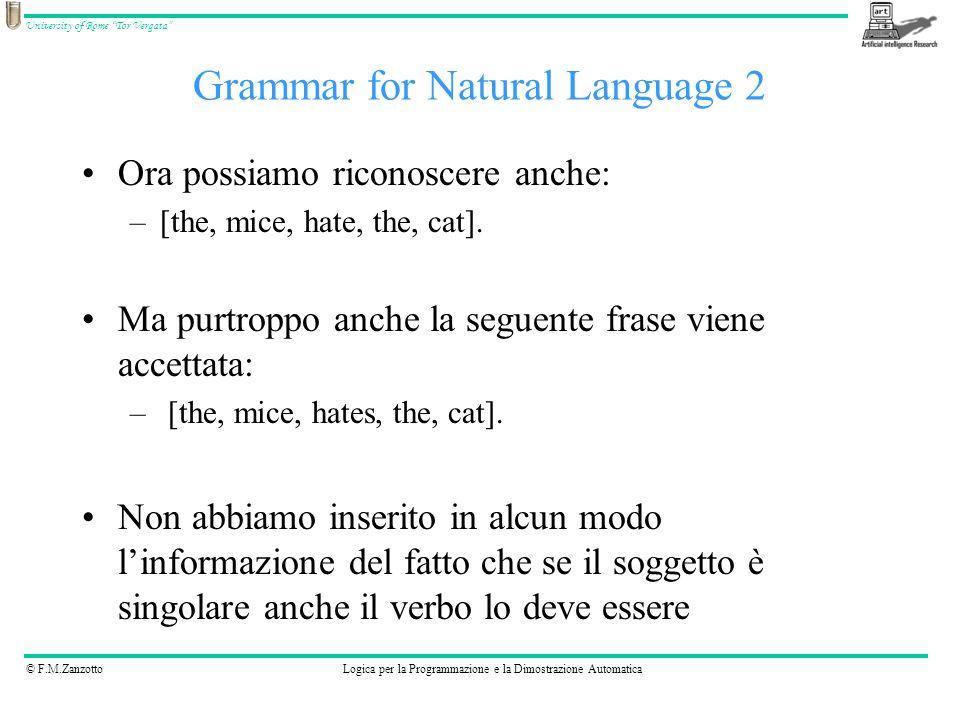 Grammar for Natural Language 2