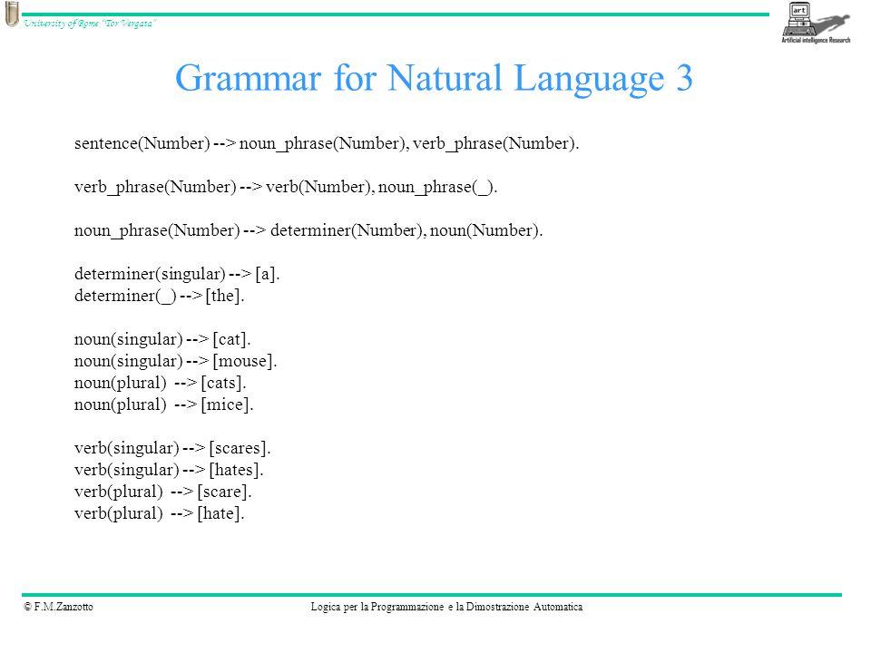 Grammar for Natural Language 3