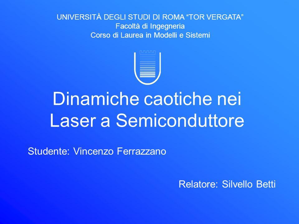 Dinamiche caotiche nei Laser a Semiconduttore