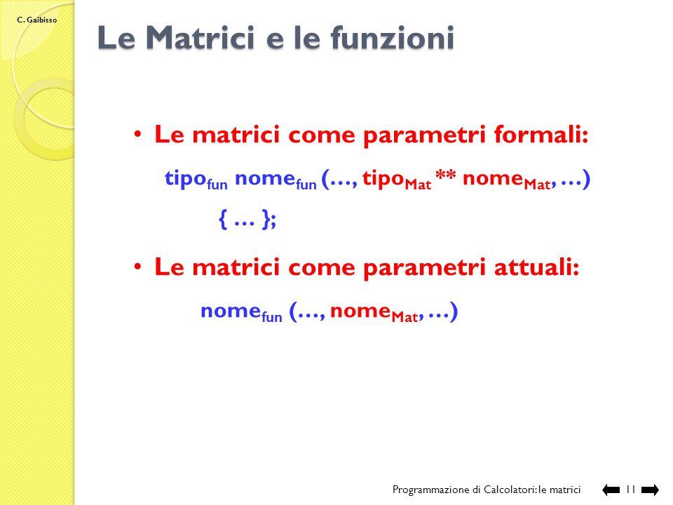 Le Matrici e le funzioni