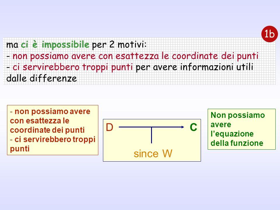 D C since W 1b ma ci è impossibile per 2 motivi: