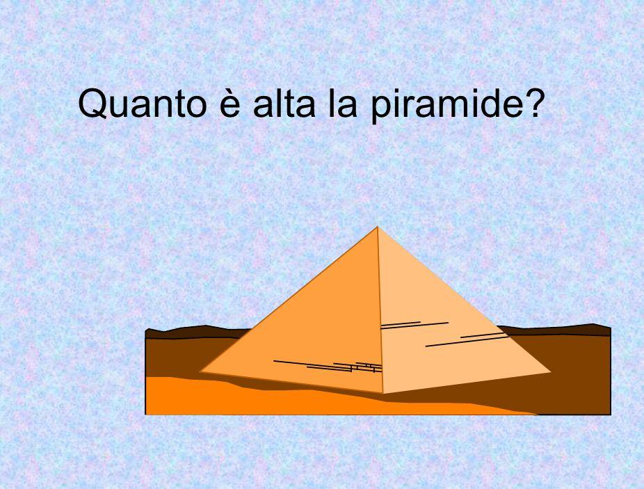 Quanto è alta la piramide