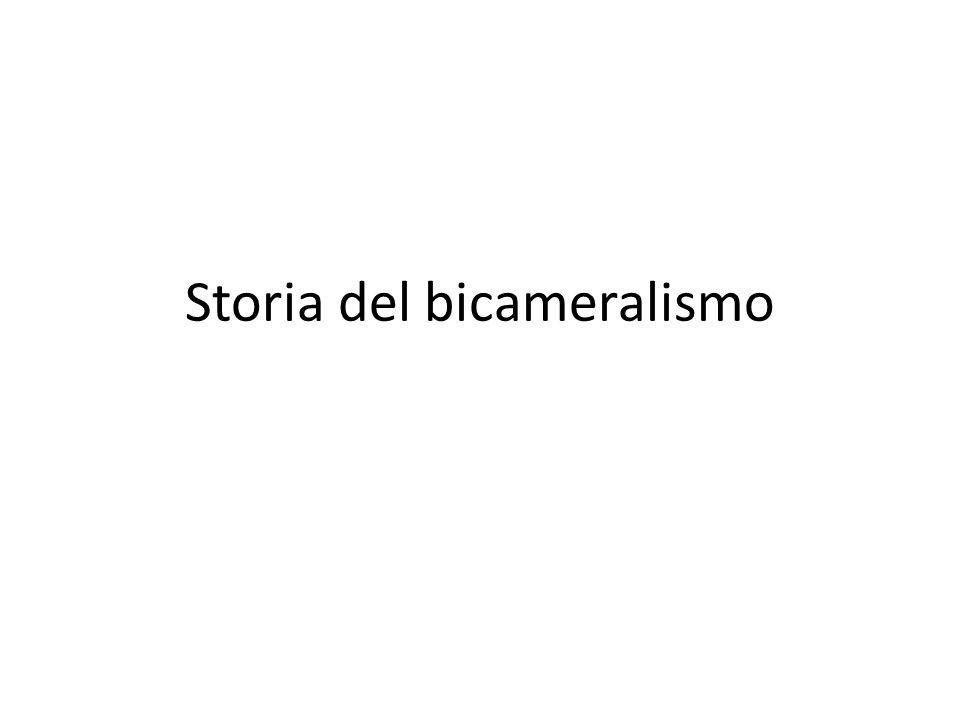 Storia del bicameralismo