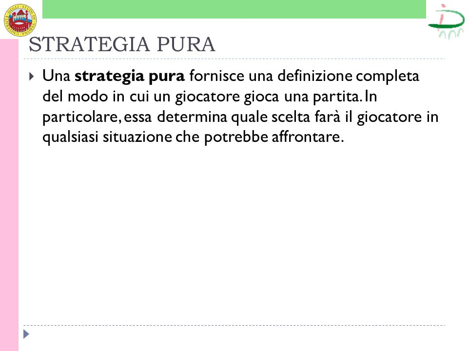 STRATEGIA PURA